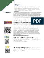 btsn algebra 1 web resources flyer