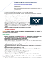 A Valorização Ambiental em Portugal e a Política Ambiental Comunitária ficha