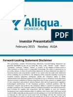 Alliqua Investor Presentation ALQA