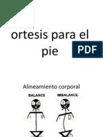 Ortesis Para El Pie