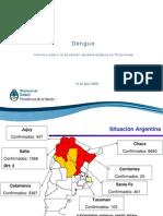 Informe Sobre Dengue en las Provincias por Ministerio de Salud de la Nación