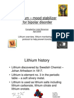Lithium Monitoring and Toxicity