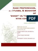 Consumer Study Summary Wines