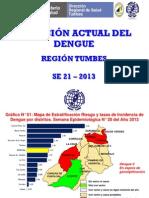 Situacion Dengue SE21 2013