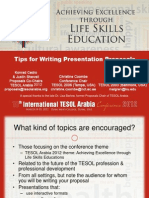 Tips for Writing Successful Conference Proposals
