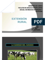 """Extensión rural """"Manejo y Primeros Auxilios en Ganadería Bovina""""."""