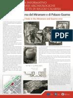 Pannello monografico area Miramare e Palazzo Guarna