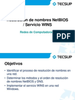 14 Resolución NetBIOS, Servicio WINS GRV