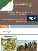 Aula 1 - Taxonomia e Classificação Zoológica dos Animais Domésticos