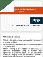 Research methodology - unit 5 - Attitude measurement