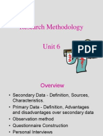 Research Methodology - unit 6, Types of data