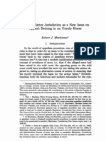 Subject Matter Jurisdiction as a New Issue on Appeal