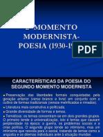 2o Momento Modernista - Poesia