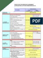 Academic Calendar Autumn 2013-14
