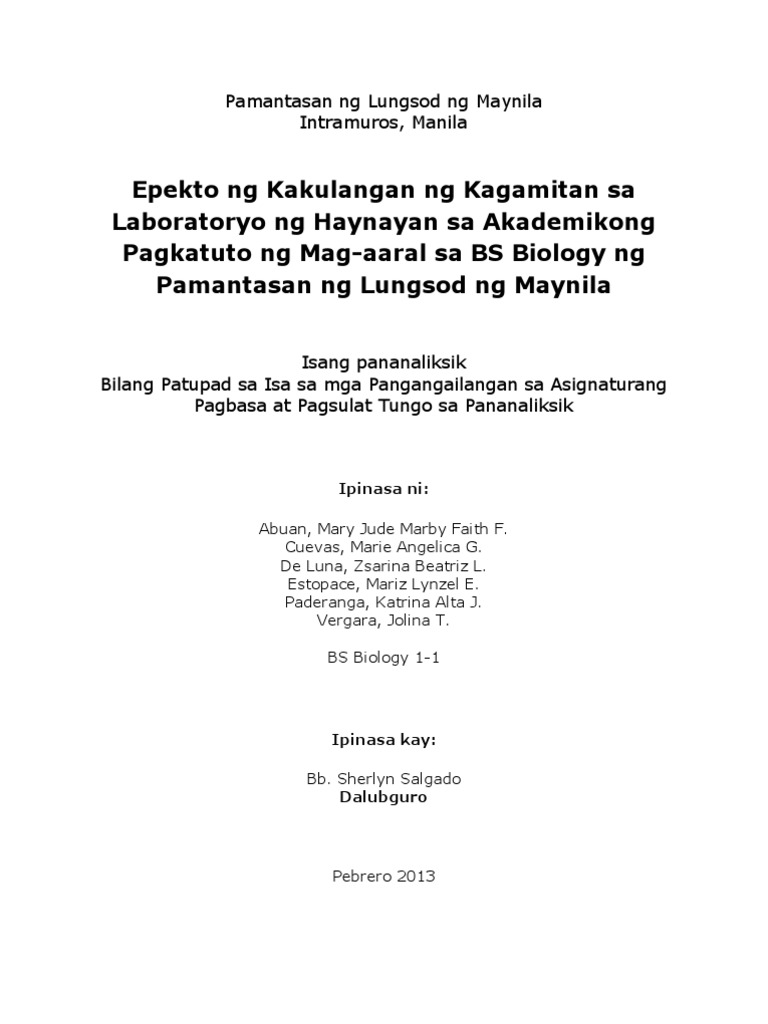 thesis na pangungusap kahulugan