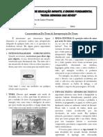 Características do Texto & Interpretação de Texto