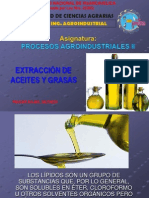 Extraccion de Aceites y Grasas.