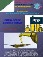 Extraccion de Aceites y Grasas.