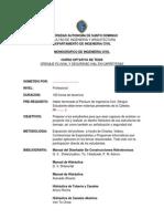 Programa Del Monografico Drenaje Pluvial y Seguridad Vial