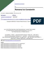 Banaterra - Negrescu Dan - Romanul Lui Constantin - 2009-07-24