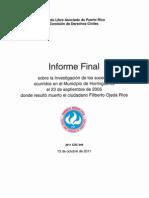 Informe Final Filiberto, Comisión de Derchos Civiles de Puerto Rico