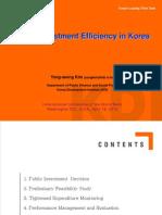 PublicInvestmentEfficiency KOREA