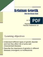 Dr Zainuri Kelainan Genetik 2013