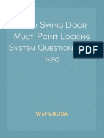 Patio Swing Door Multi Point Locking System Questionaire & Info
