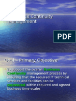 13 IT Service Continuity Management