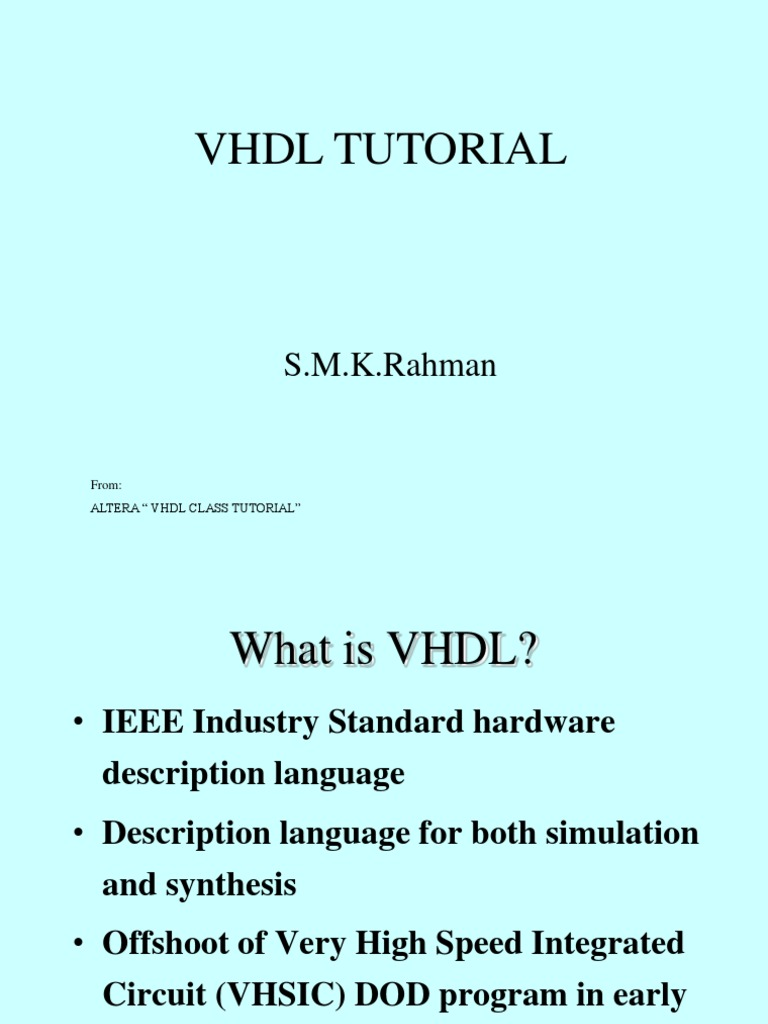 Phd thesis on vhdl