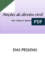 Nocoes de Direito Civil - Conh. Bancarios