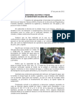 07/06/12 Germán Tenorio Vasconcelos monitorea Sso Pipas y Pozos Para Garantizar Calidad Del Agua