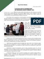 14/06/12 Germán Tenorio Vasconcelos dona Un Poco de Tu Sangre Para Que Tres Personas Sigan Viviendo