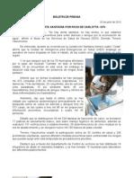 20/06/12 Germán Tenorio Vasconcelos no Hay Alerta Sanitaria Por Paso de Carlotta