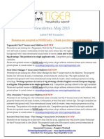 THS Job Newsletter 6. May