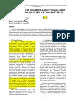 Ac-dc_002 Electronique de Puissance Basse Tension, Haut Rendement Pour Les Applications Portables