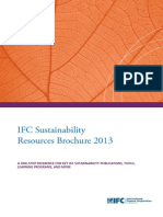 IFC Sustainability Resources Brochure 2013