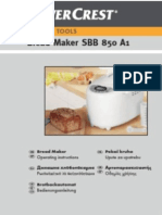 Silvercrest Bread Maker SBB 850 EDS A1