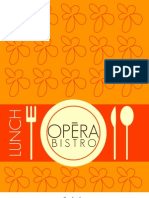 New Opera Bistro Lunch Menu