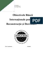 Obiectivele Bancii Internationale Pentru Reconstructie Si Dezvoltare