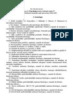 Î N T R E B Ă R I de examinare la Neurologie pentru studenţii anului IV ai facultăţii Medicină Generală, anul universitar 2004-2005