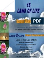 15 Laws of Life - Swami Vivekananda -