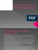 Características de los tipos de empresas en Colombia