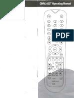 Control Remoto Universal GDRC-400T