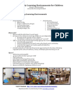 handout creating quality learning environments for children