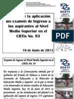 Informe Examen Ingreso Cbtis 93