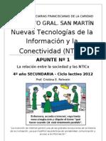 APUNTE Nº 1 NTICx 4º Secundaria 2012 IGSM
