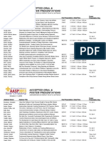 Applied Sport Psychology (AASP) 2013 Accepted Presentations