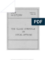 The Class Struggle in Local Affairs
