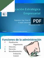 Planificacion Estratégica  Empresarial CLASE 1